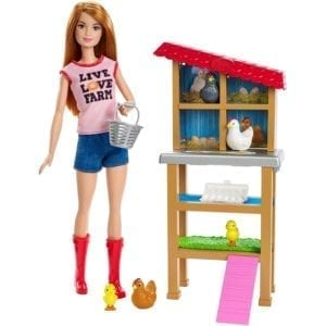 barbie granja gallinas
