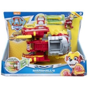 Paw Patrol Mighty Pups Super Paws Camion De Bomberos Transformable de Marshall Colombia